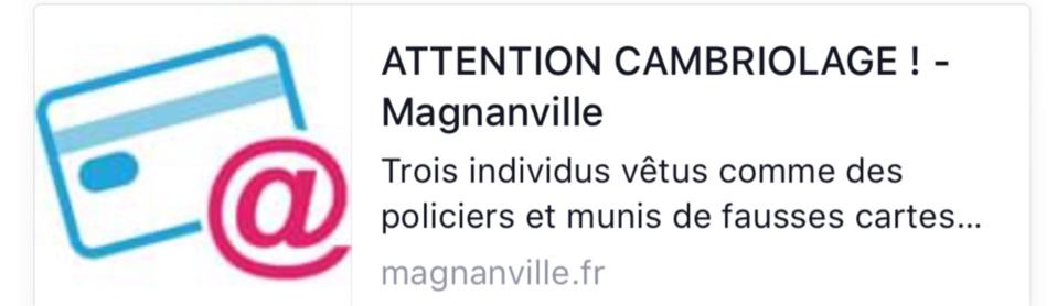 """Alerte aux faux policiers à Magnanville (Yvelines) : """"ne leur ouvrez pas votre porte"""""""