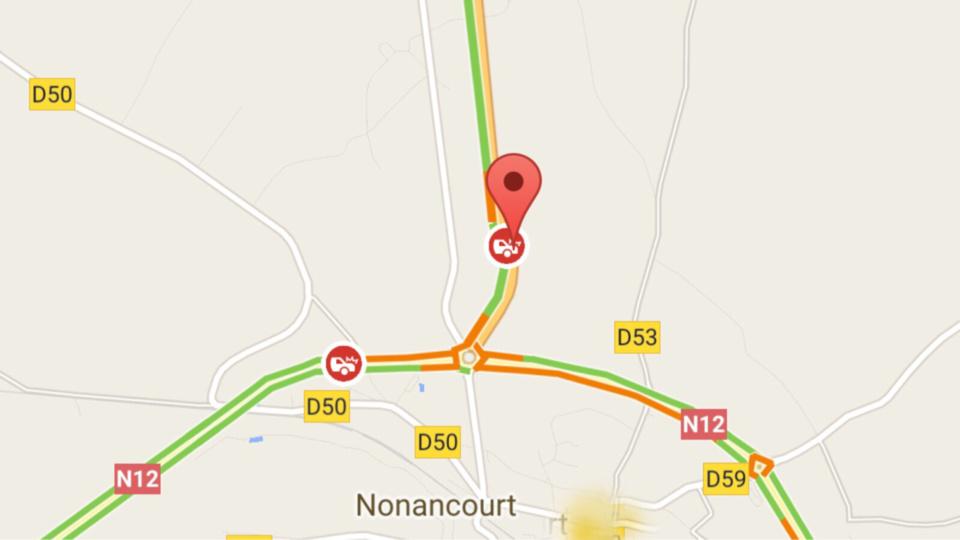 Accident de poids-lourds : la N154 coupée ce matin à La Madeleine-de-Nonancourt