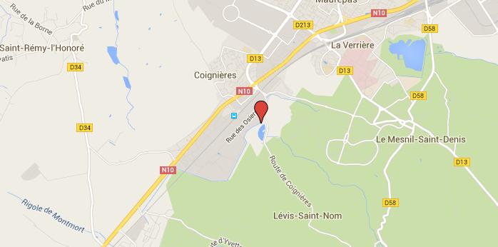 Yvelines : découvert mort une arme à côté de lui sur la berge d'un étang à Coignières