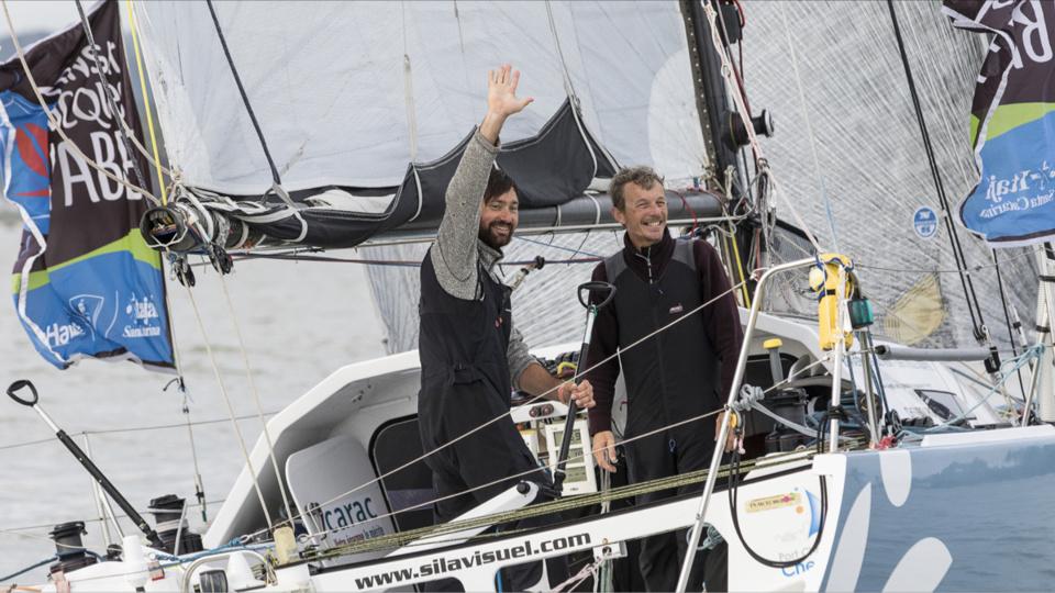 Le duo cherbourgeois Louis Duc et Christophe Lebas termine à la troisième place (Photo@Jean-Marie Liot)