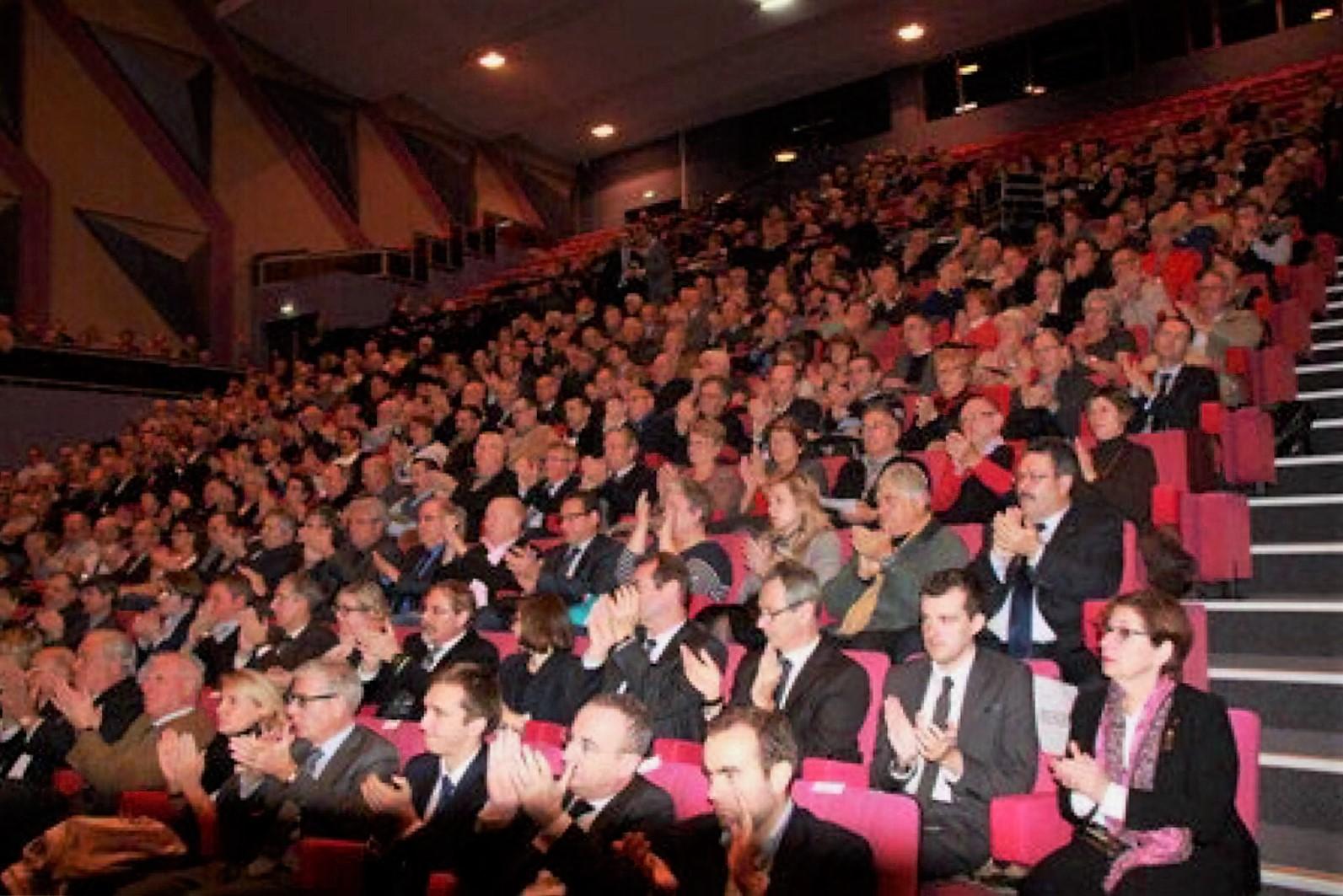 Les maires des 675 communes de l'Eure étaient conviées par le préfet au Cadran, à Evreux, ce samedi matin (Photo@préfecture de l'Eure)