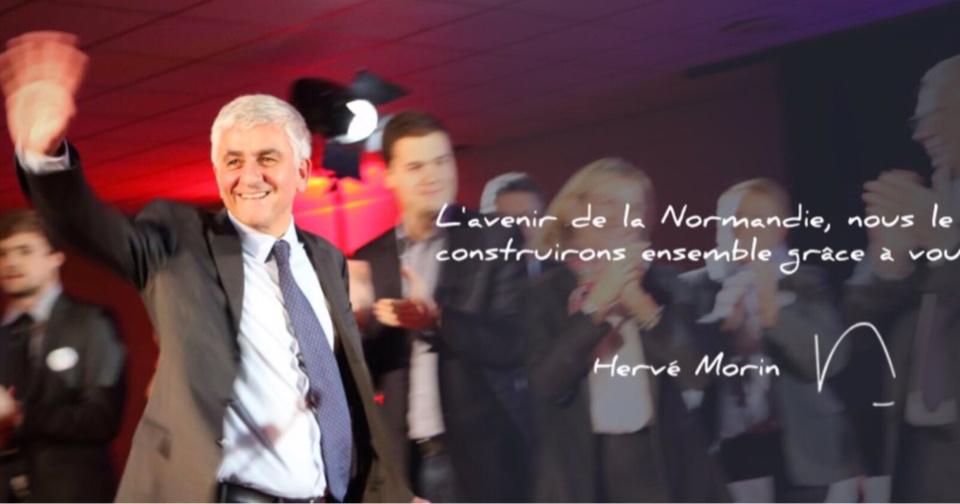 Photo publiée sur le compte Twitter d'Hervé Morin ce dimanche soir
