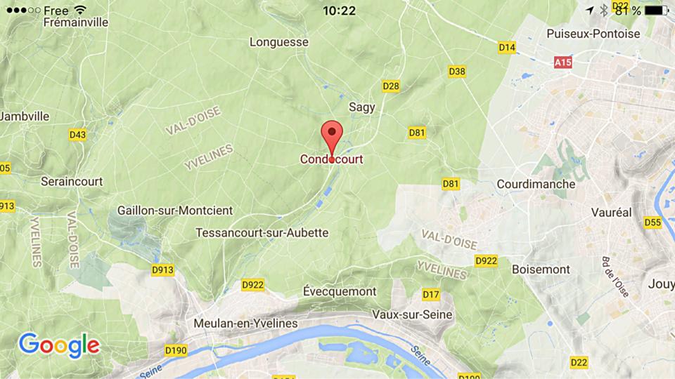 Accident à Condécourt (Val d'Oise) : la D28 coupée dans les deux sens