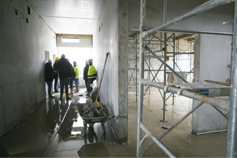 Le nouveau collège sétend sur 1880 m2 répartis sur deux niveaux. Son coût : plus de 6 millions d'euros (Photo@CD)
