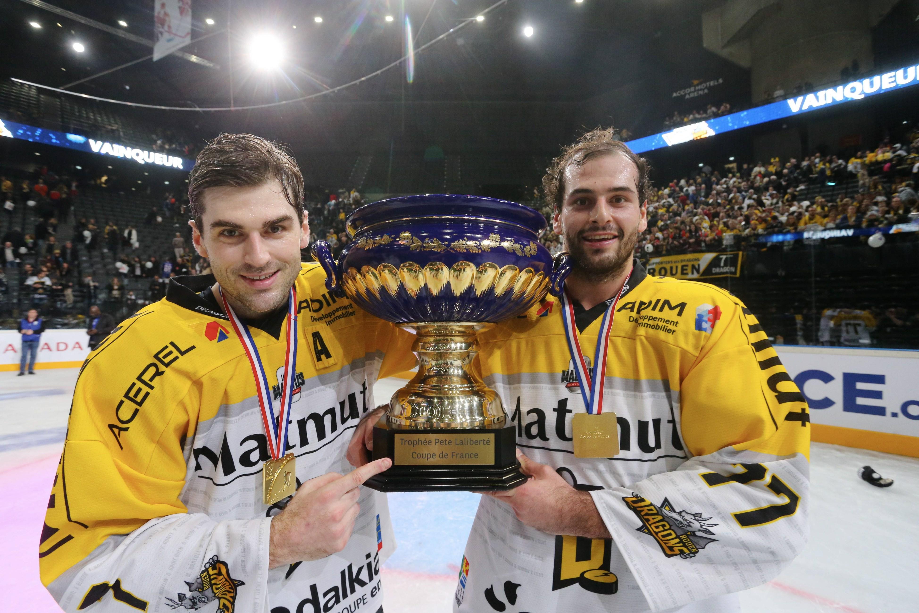 Les rouennais décrochent pour la sixième fois le trophée (crédit photo : Xavier Lainé)