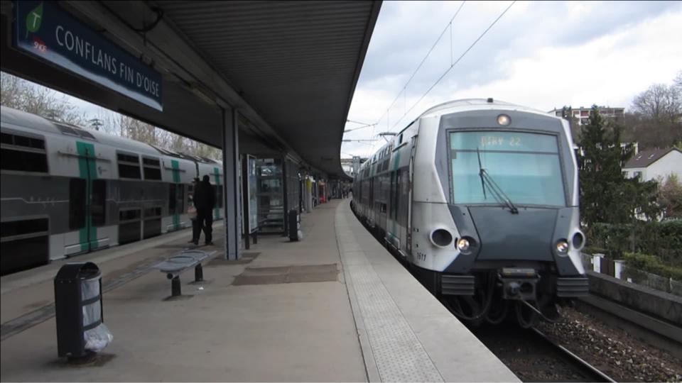 Un RER bloqué 30 minutes en gare de Conflans Fin d'Oise à cause d'un perturbateur