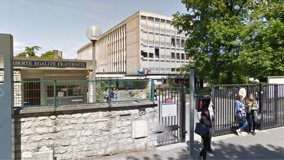 L'ancien élève s'est introduit dans l'enceinte du lycée pour régler une affaire de drogue (Illustration@Google maps)