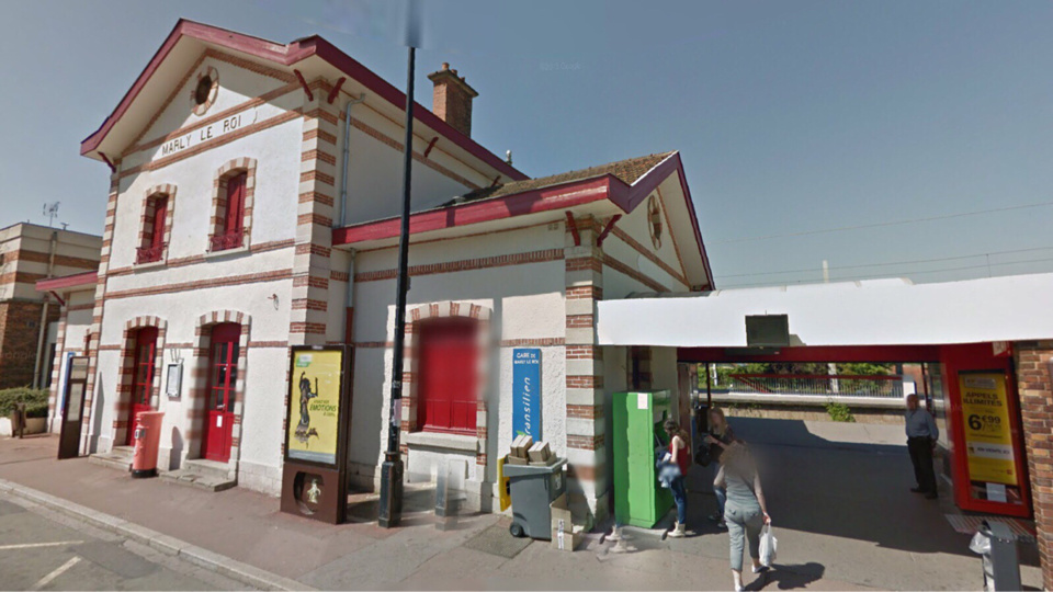 La gare de Marly-le-Roi (Illustration@Google Maps)