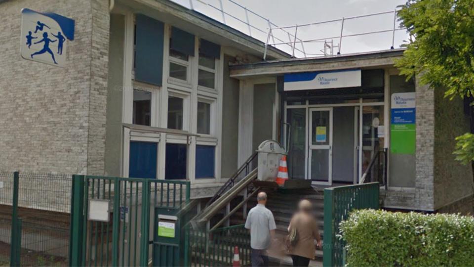 La caisse de sécurité sociale, rue Gambetta aux Mureaux (illustration@Google Maps)