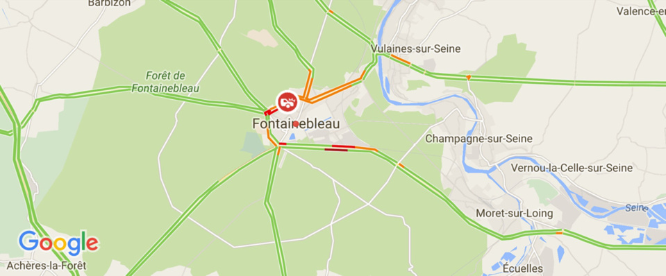 La collision s'est produite sur le boulevard du Mal Joffre à Fontainebleau