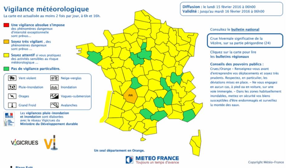 La Normandie en vigilance jaune verglas et neige aujourd'hui lundi