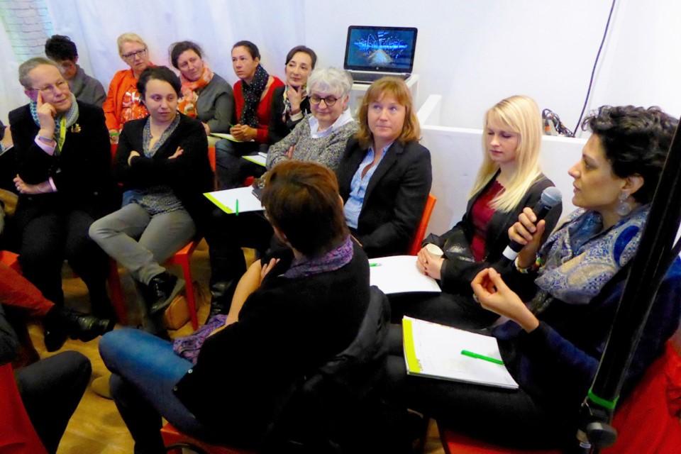 Femmes agricultrices et femmes engagées dans la vie publique ont abordé le thème de la parité (Photo@CD27)