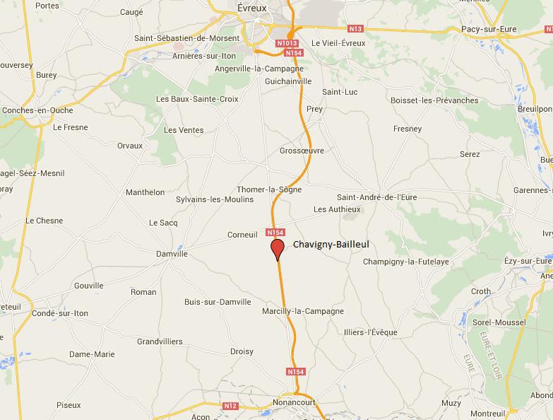 #InfoRoute. Accident mortel sur la N154 entre Nonancourt et Évreux, dans l'Eure