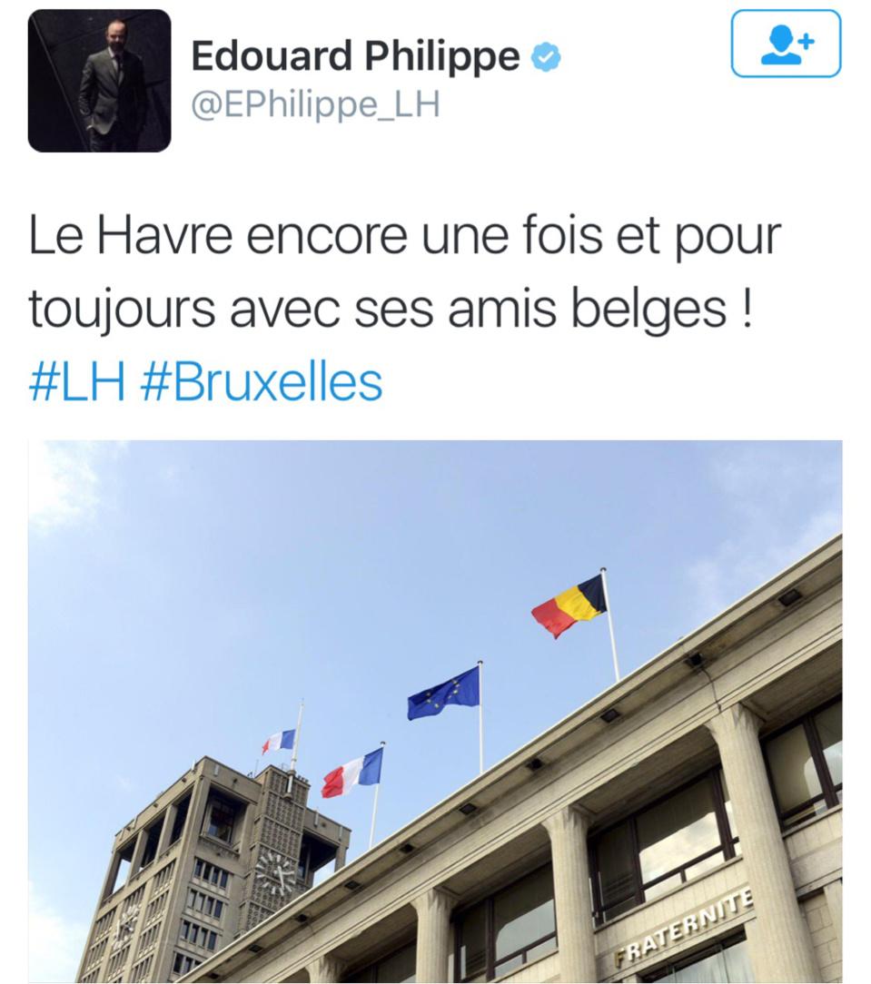 Attentats de Bruxelles : le Havre et Caudebec-lès-Elbeuf déploient le drapeau de la Belgique