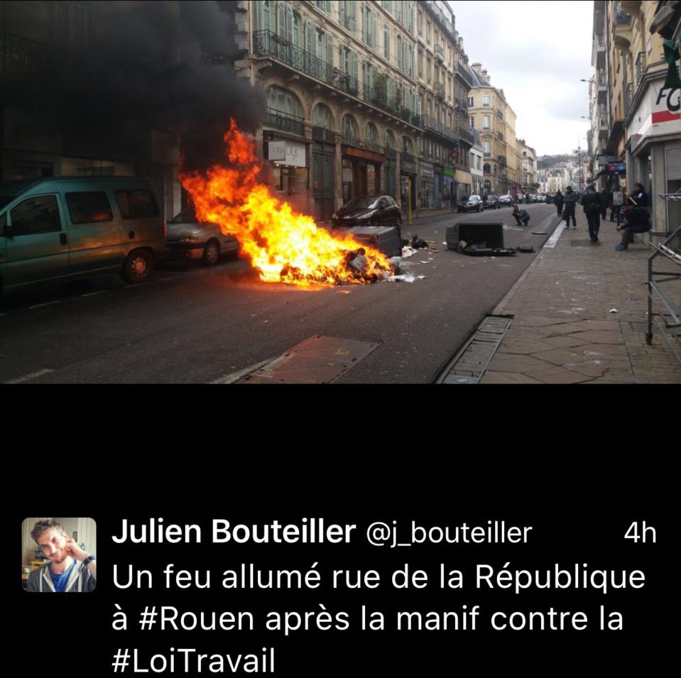 14 000 manifestants contre la Loi Travail en Seine-Maritime et sept interpellations à Rouen
