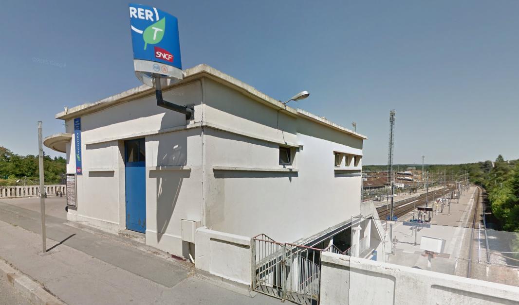 La gare du Grand Cormier, en bordure de la N184, à Achères (Illustration)