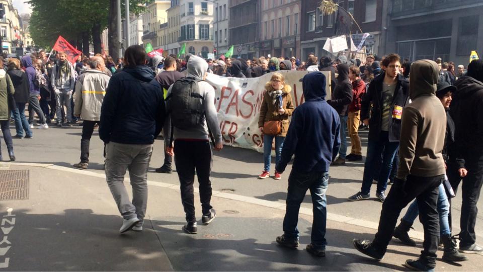 Beaucoup de lycéens et étudiants ont partricipé à la manifestation ce matin à Rouen (Photo et vidéo @M.L./infonormandie)