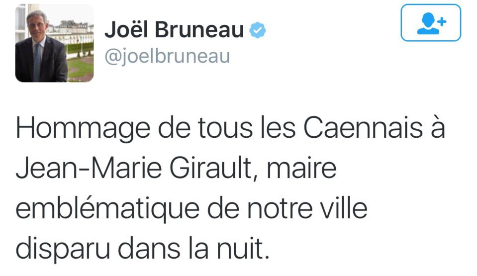 Jean-Marie Girault, ancien maire de Caen et sénateur du Calvados est décédé