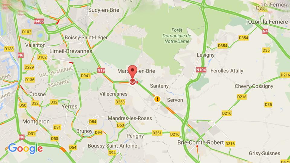 #InfoRoute. Accident : la N19 coupée vers la province dans le Val de Marne