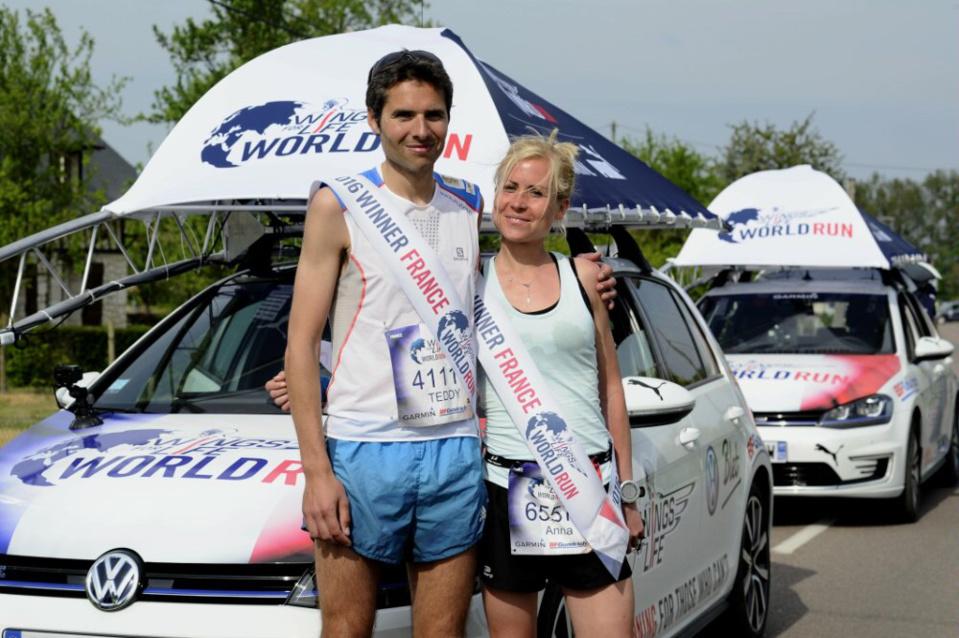Les vainqieurs de la course à Rouen (Photo@Philippe Montigny pour Wings pour World Run vie)