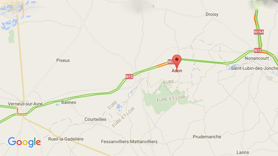 #InfoRoute. Poids-lourd en feu sur la RN12, ce matin dans l'Eure
