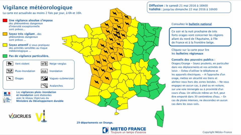 Météo. Des orages violents sont attendus en Seine-Maritime et l'Eure placés en vigilance orange
