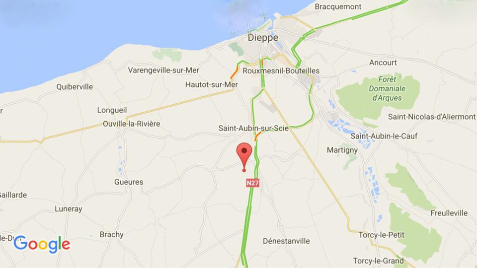 Seine-Maritime : quatre blessés dans un face-à-face sur la RN27, ce matin à Sauqueville