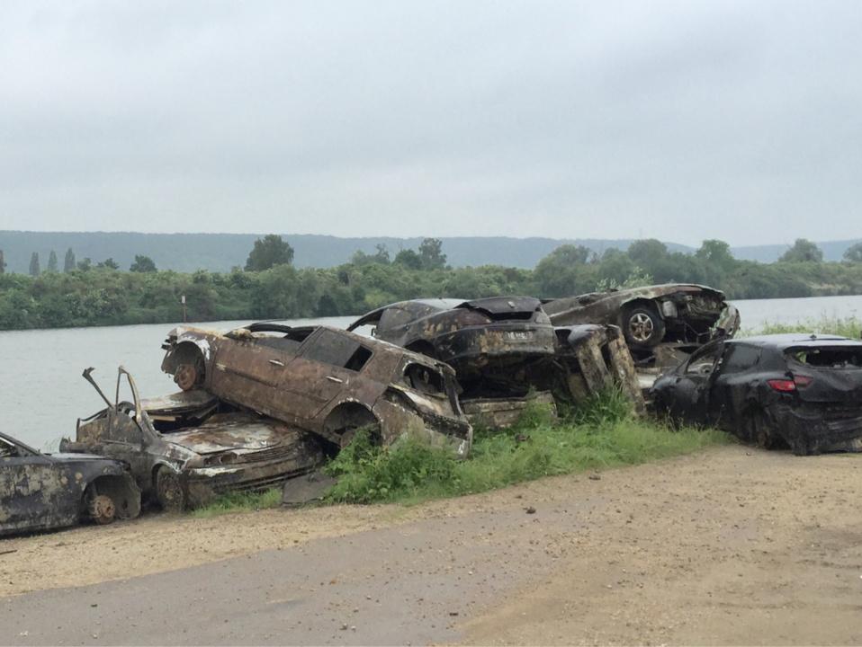 Les véhicules immergés dans le fleuve ont été volés entre octobre 2011 et novembre 2015 (Photo@DR)