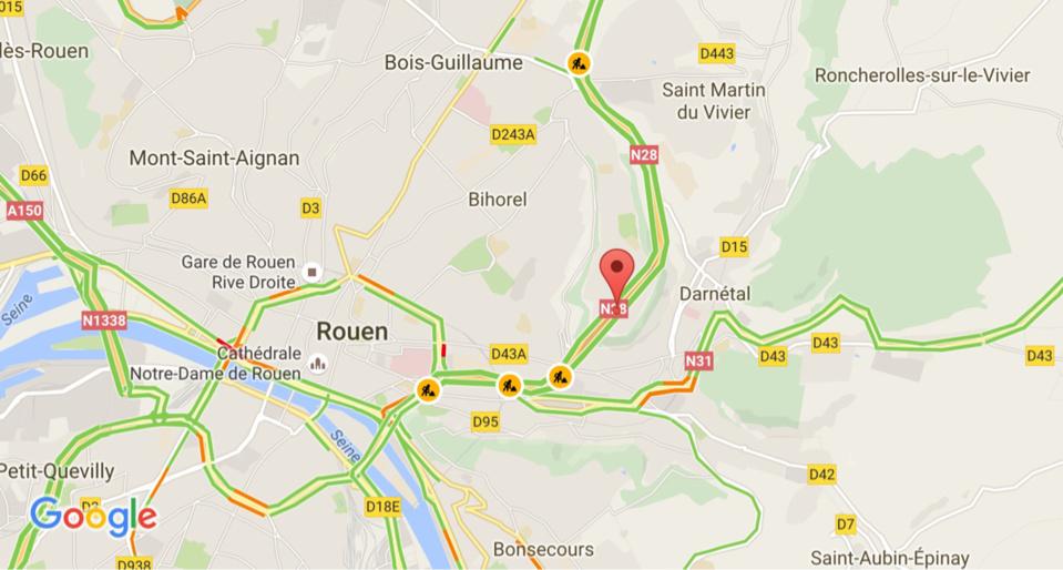 Le tunnel de la Grand-Mare à Rouen fermé pour la nuit dans les deux sens