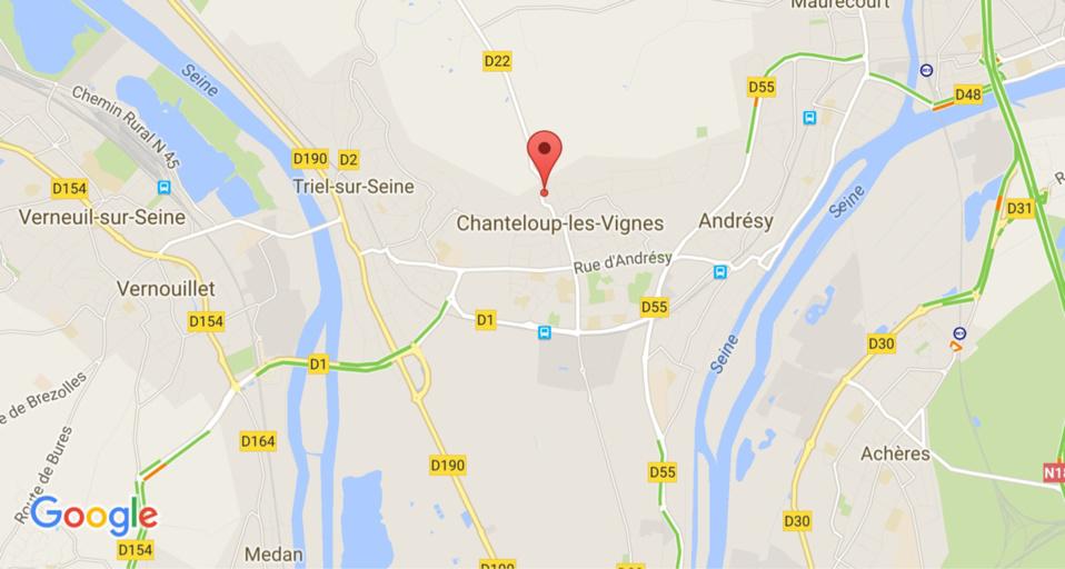 Chanteloup-les-Vignes : effondrement de terrain rue de l'Hautil