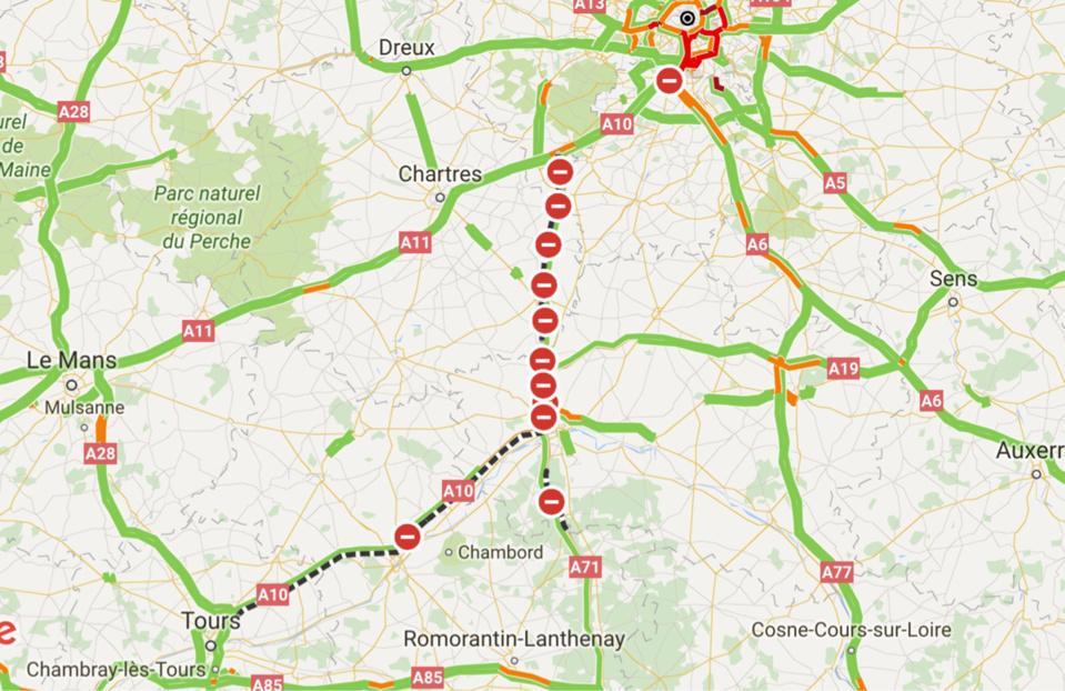 Inondations : l'autoroute A10 toujours coupée ce matin dans le Loiret. Ce qu'il faut savoir