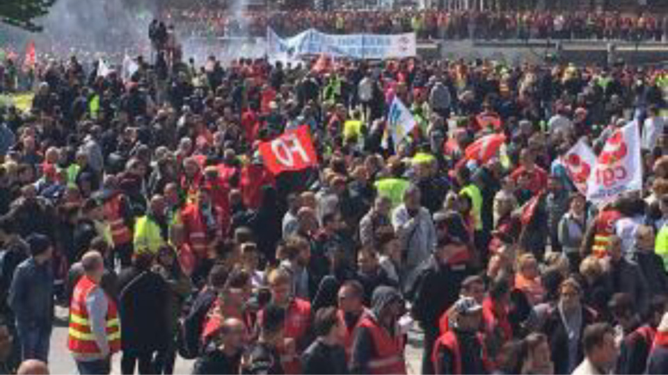 Au Havre, la mobilisation contre la loi Travail ne faiblit pas depuis des semaines (Photo@UD-CGT)