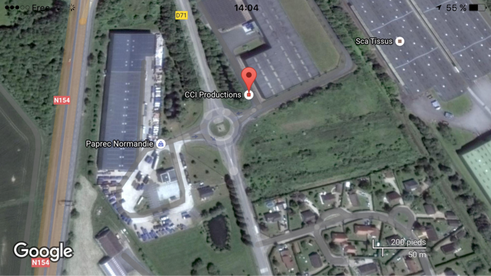 capture d'écran@Google Maps