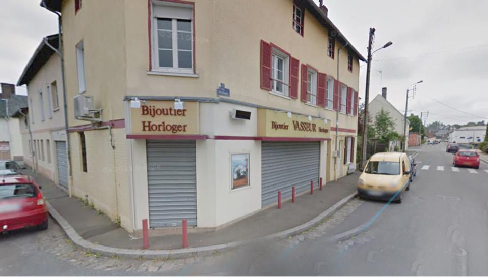 La bijouterie Vasseur installée dans le centre-ville de Blangy (illustration@Google Maps)