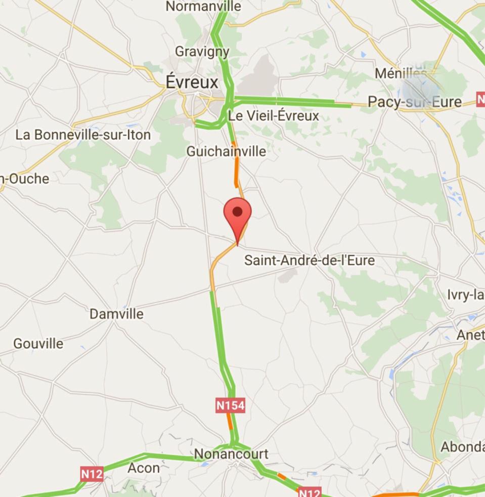 Accident de poids-lourd dans l'Eure : la N154 coupée dans les deux sens à hauteur de Jumelles