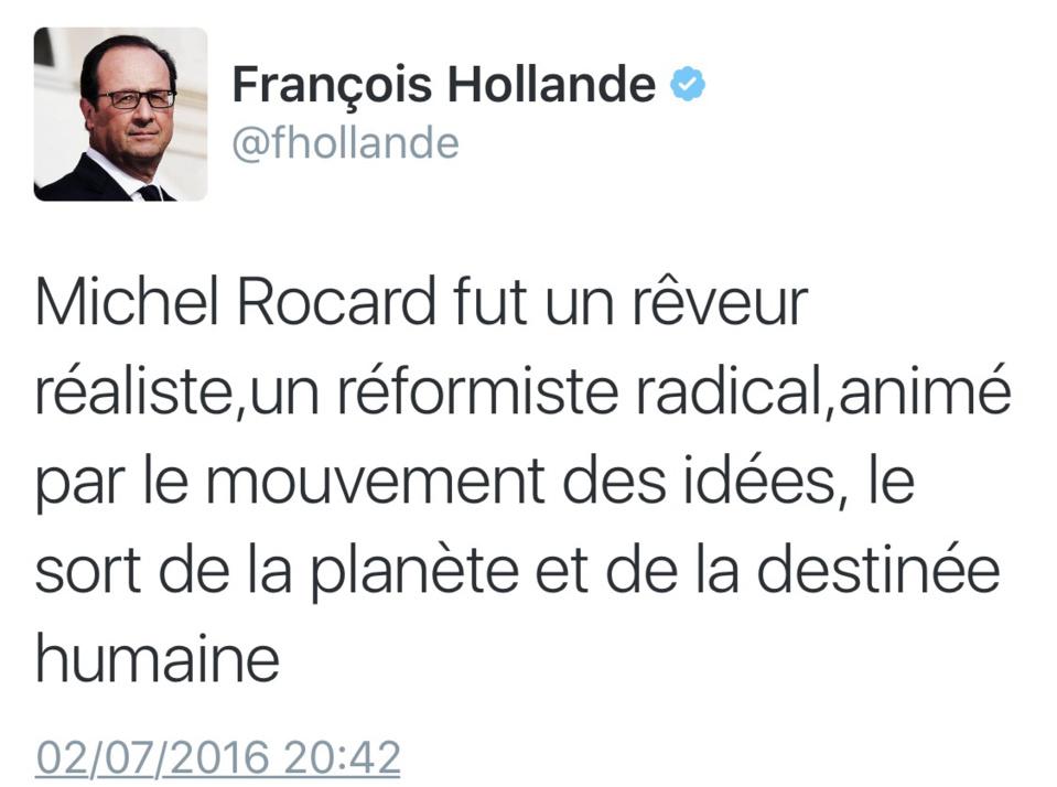 Mort de Michel Rocard : Bernard Cazeneuve salue la mémoire d'un grand réformateur