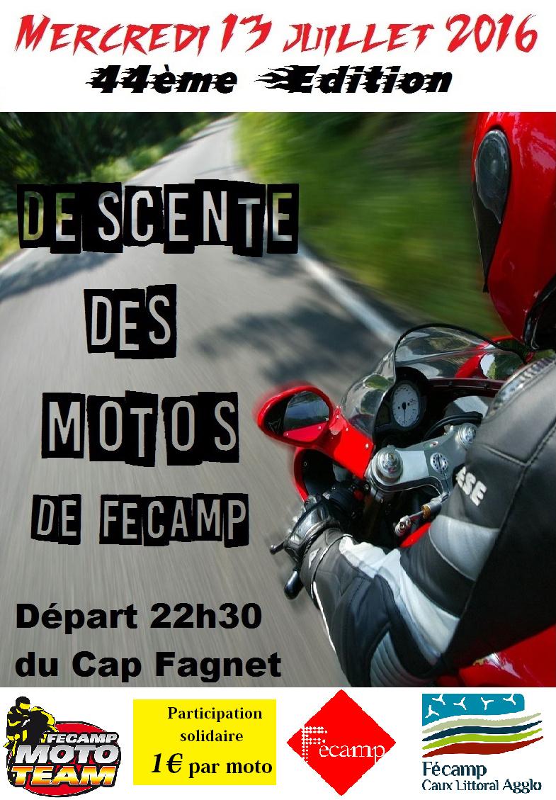 Ce soir à Fécamp, la descente des motards, côte de la Vierge : le rendez-vous de belles mécaniques
