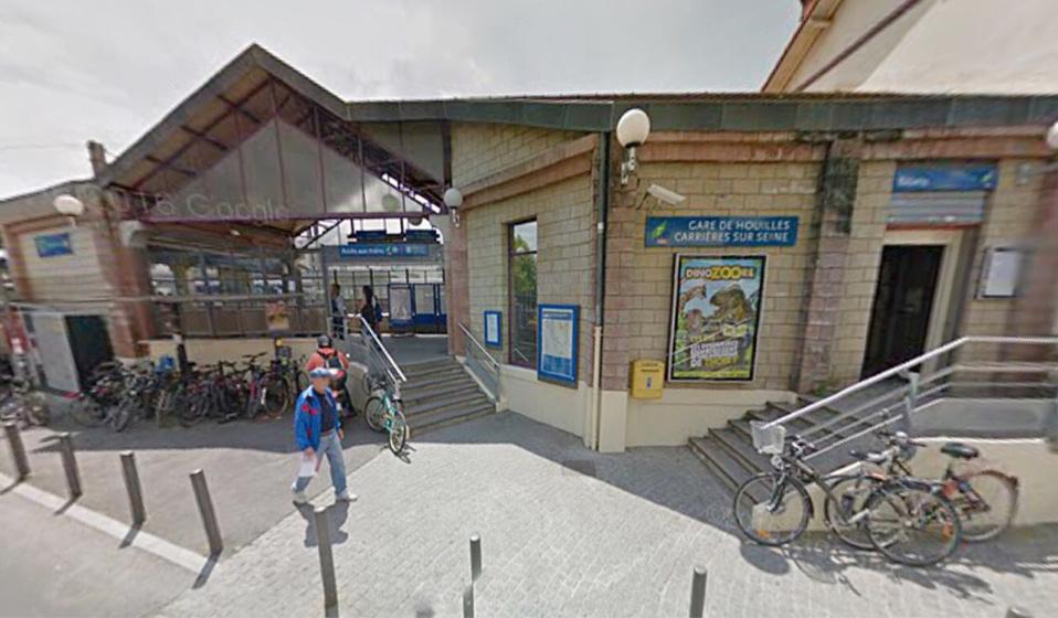 La gare de Houilles - Carrières (illustration@Google Maps)