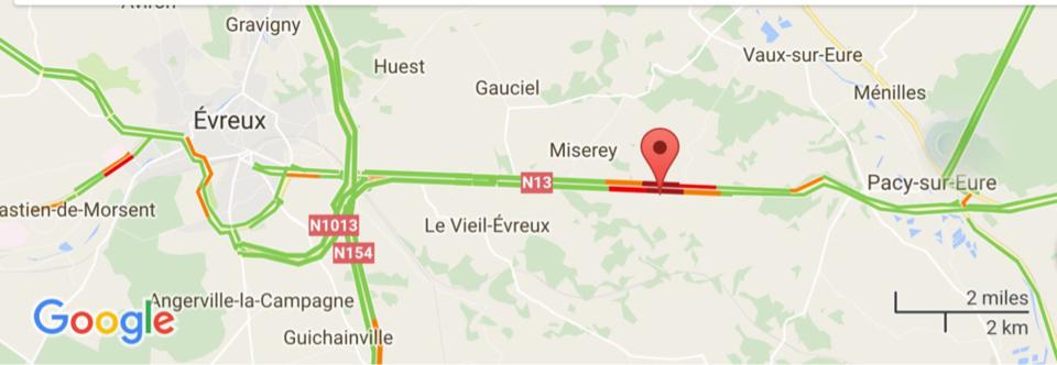 #InfoRoute. Un camion-citerne accidenté sur la RN13 entre Pacy-sur-Eure et Évreux