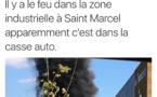 Eure : 40 sapeurs-pompiers mobilisés sur l'incendie d'une casse automobile près de Vernon