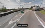 Rouen : circulation très perturbée aux abords du pont Mathilde après un accident de poids-lourd