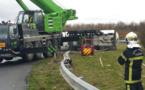Camion-citerne couché près de Caen : l'accès au périphérique restera fermé jusqu'à jeudi matin
