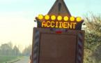 Collision entre deux poids-lourds sur la RN 184 à Grossoeuvre dans l'Eure
