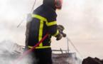 Le feu a été éteint au moyen de deux lances - Illustration