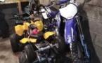 Deux motos et un quad avaient été découvert dans une cave lors d'une perquisition le vendredi 18 juin - Photo © DDSP76