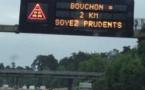 La circulation est très soutenue sur l'A13 en direction de la Normandie - photo @ infoNormandie