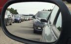 La circulation est saturée depuis le triangle de Rocquencourt  en direction de Paris - Illustration © infoNormandie