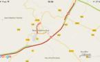 Accident de poids-lourd sur l'A28 à Neufchâtel-en-Bray