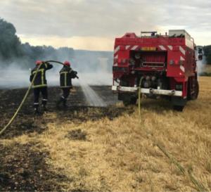 Seize sapeurs-pompiers sont intervenus avec plusieurs lances - illustration