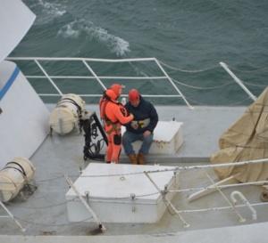 Evacuation sanitaire d'un marin souffrant, au large de Dunkerque